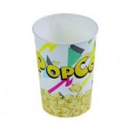 50 Gobelets pour pop corn, En carton/PE, H. 15cm, Ø 110mm