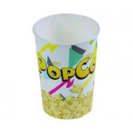 50 Gobelets pour popcorn, En carton/PE, H. 15cm, Ø 110mm