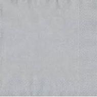 20 Serviettes 33x33 3 couches argent