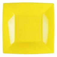 25 Assiettes plates Nice, 23 x 23 cm, jaune