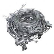 Bougeoir nid argenté