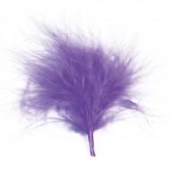 Sachet de 20 plumes, parme, 7 cm