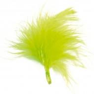 20 Federn, hellgrün, 7 cm