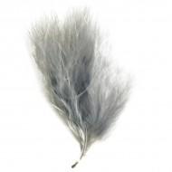 20 Federn, grau, 7 cm