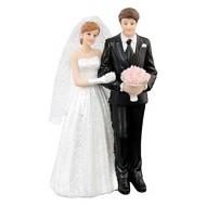 Figurine couple de mariés en résine, 8,1x5x13,3cm