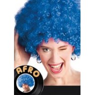 Perruque afro, bleu