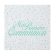 """20 Serviettes """" Ma première Communion, 16,5 x 16,5 cm, 3plis, mint"""