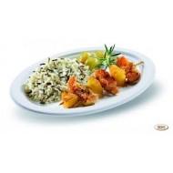 50 Assiettes ovales, canne à sucre, 26 cm x 19.5 cm