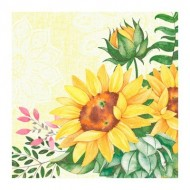 50 klassische Servietten, sunflower, 4plis, 40x40cm