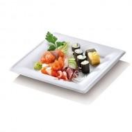 50 Assiettes carrées Karo, canne à sucre - 26 x 26 prof. 1,8 cm