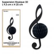 Suspensions musique 3D, noir