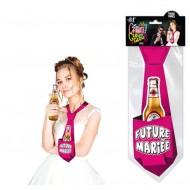 "Cravate Glouglou""Future Mariée"" fuchsia"