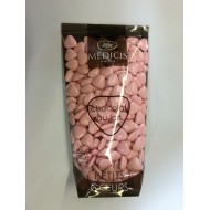 Petits coeurs, chocolat 70 % cacao, rose, 250gr