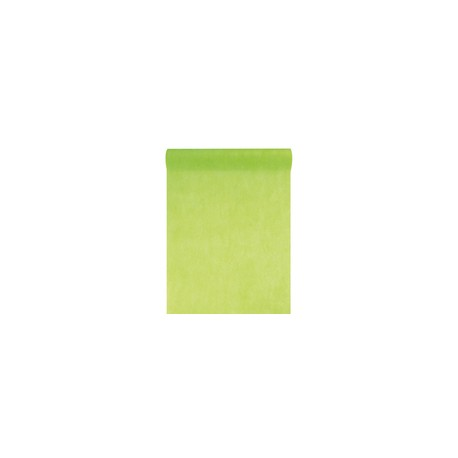 Chemin de table intissé, uni, 0.30 x 10 m, vert