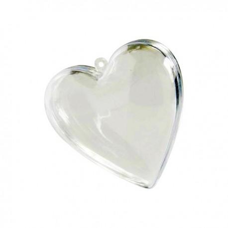 Cœur transparent 8 cm