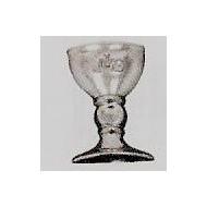 10 Kelch Muster, Silber, 2 cm