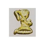 10 kommunizierende Muster, Gold, 2 cm
