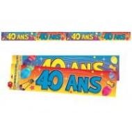 Bannière 40 ans, 2.44 mètres
