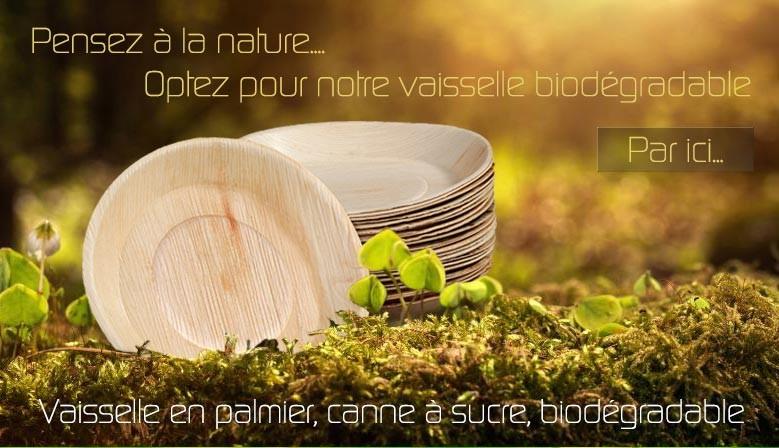 Vaisselle Compostable ou biodégradable