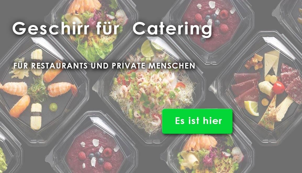 Geschirr für Catering