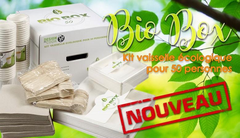 Bio Box - vaisselle biodégradable pour 50 personnes
