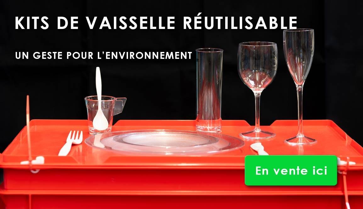 Vente de kits de vaisselle réutilisable