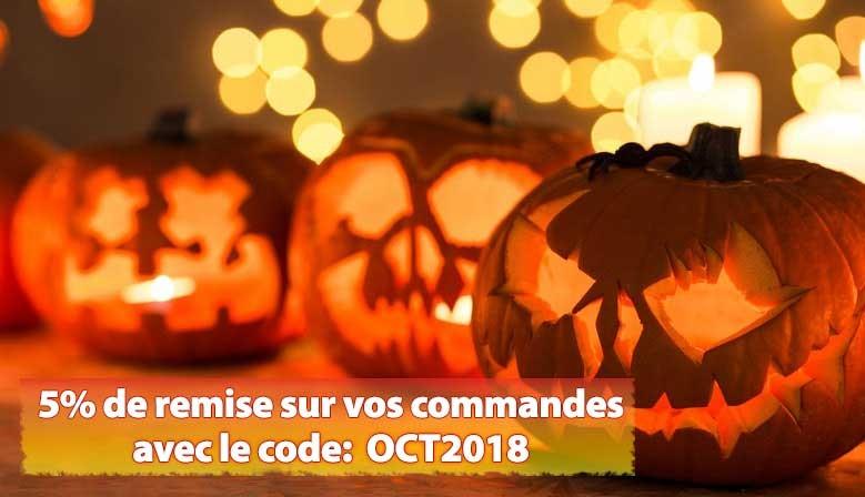 5% de remise sur vos commandes en octobre