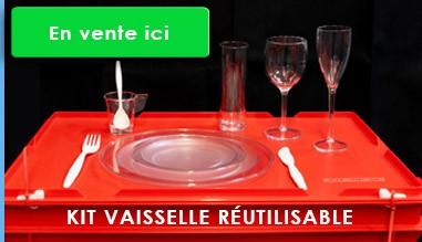 Kit de vaisselle réutilisable